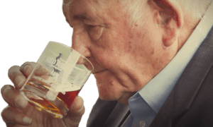 Jimmy Russell sniffing whiskey