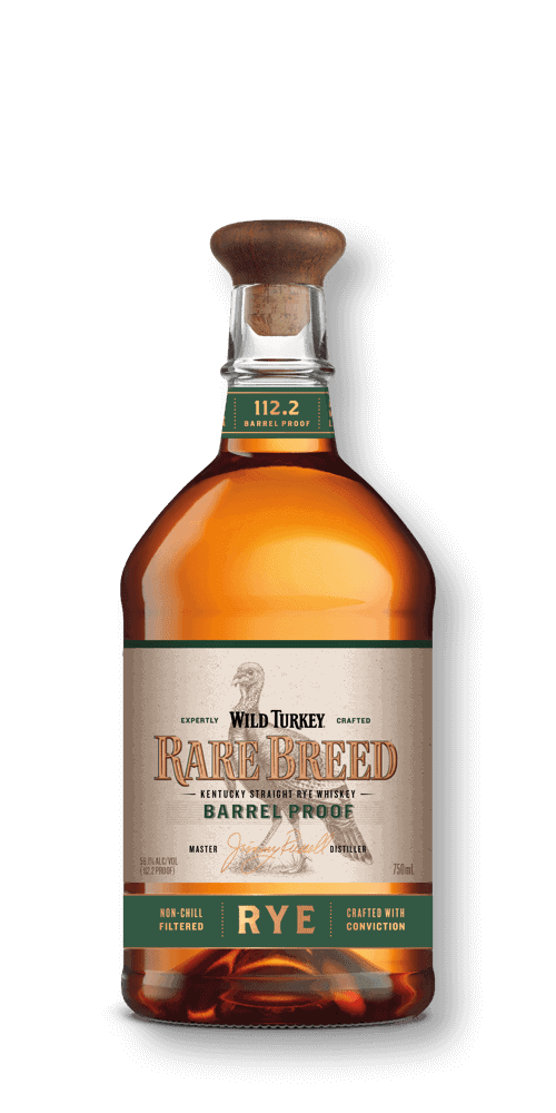 Rare Breed Rye whiskey in a bottle