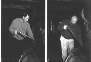 Eddie and Jimmy Russell working at the Wild Turkey distillery